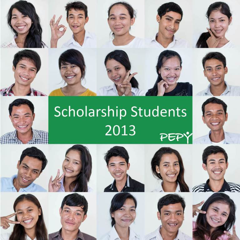 PEPY scholarship students 2013